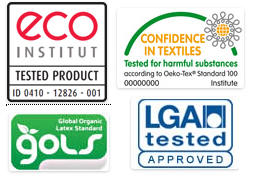 Látex Natural 100%. Certificados.