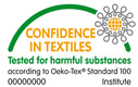 Certificado Oeko-Tex - Estandard 100. Test report: 34999