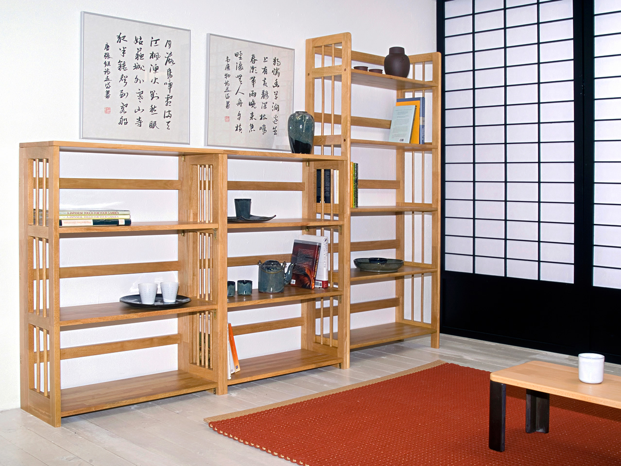 Estanter a apilable no apilable haiku futon - Estanterias de madera a medida ...