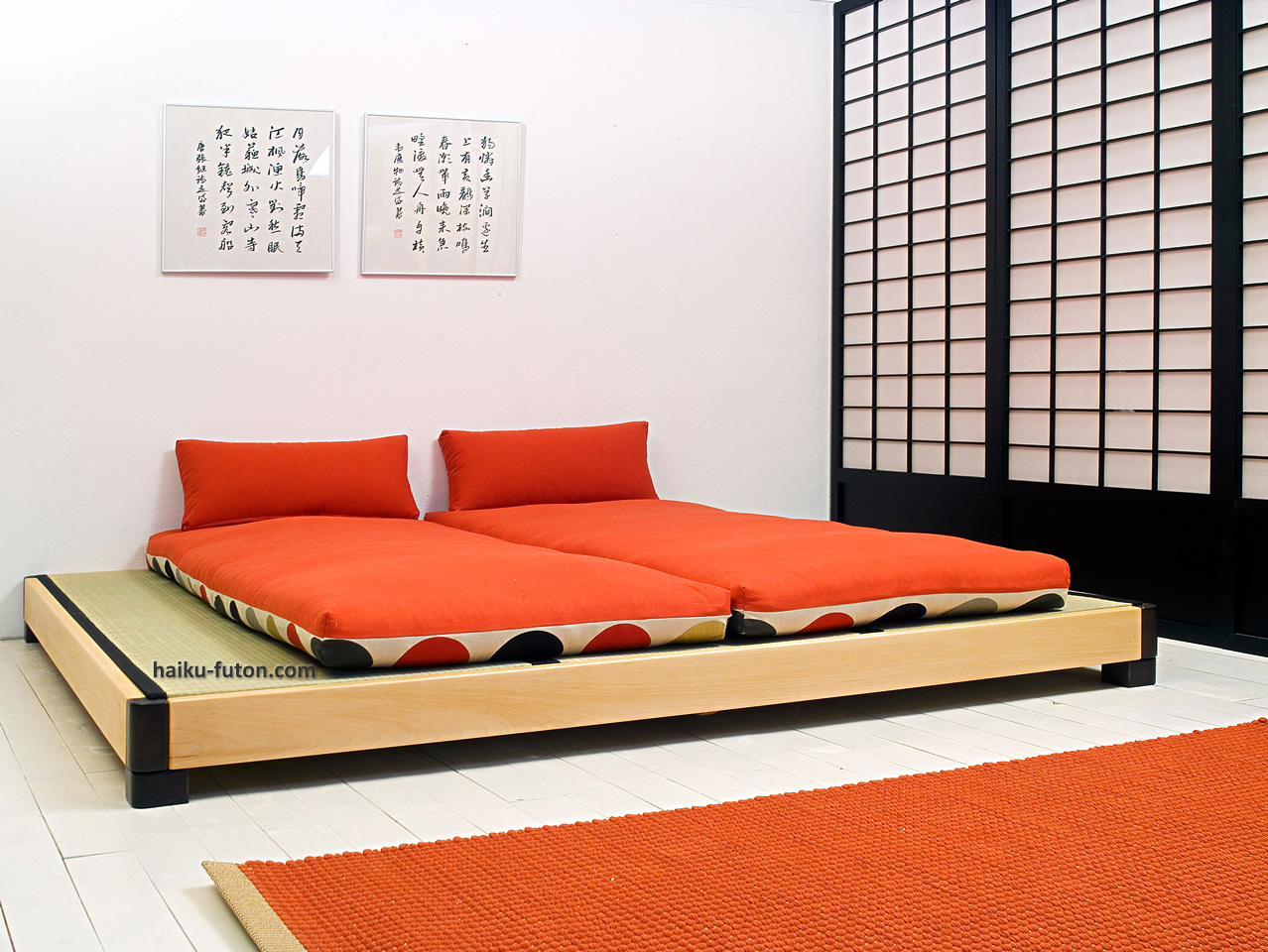 2 cama ocean tatamis haiku futon for Cama tatami