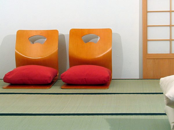 Sillas Tatami chair en color natural. Cojín incluido - Haiku Futon